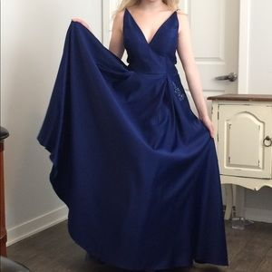 Dark Royal Blue Prom Dress